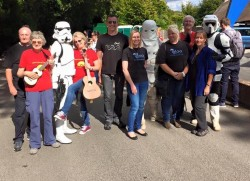 Members of The Big Igloo Band after performing at Naomi House Open Day 2015
